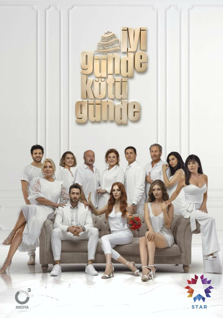 affiche de la série turque iyi gunde kotu gunde elcin sangu new serie