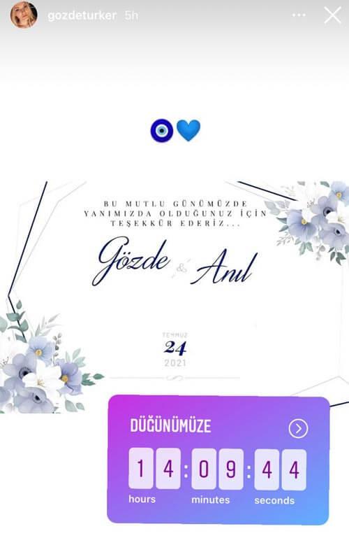 invitation mariage gozde turker